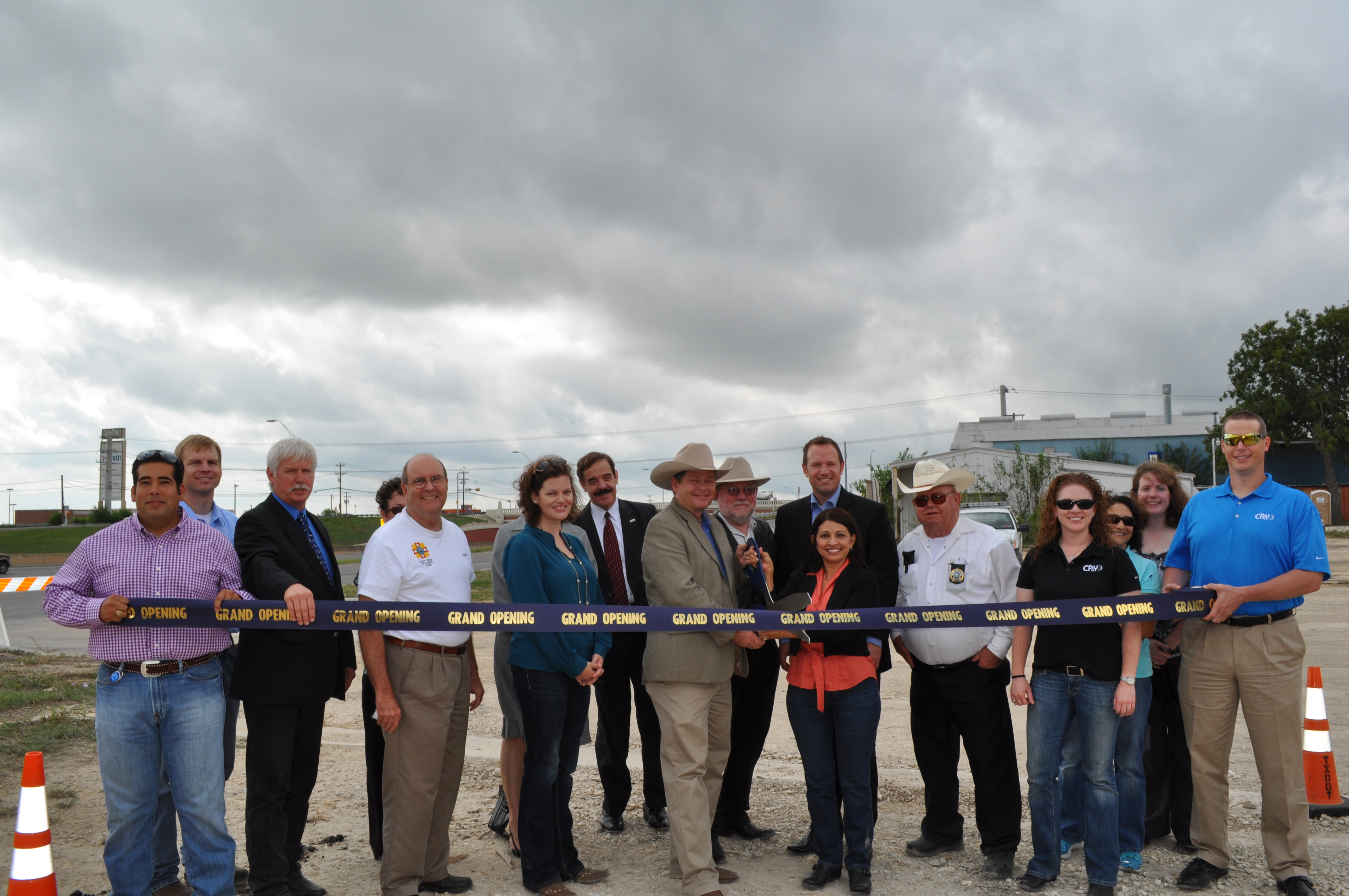 Interstate 35 Frontage Road & FM 150 Re-Alignment Project Ribbon Cutting