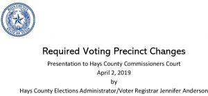 2019 Voting Precinct Changes April 2 2019