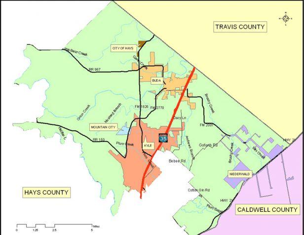 Map Of Texas Kyle.Commissioner Precinct 2 Hays County
