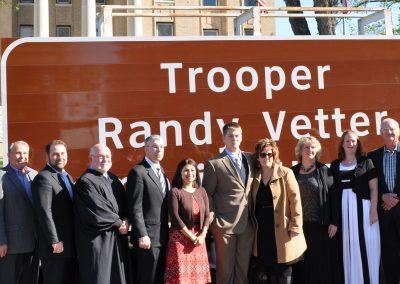 Trooper Randy Vetter Memorial Highway Sign