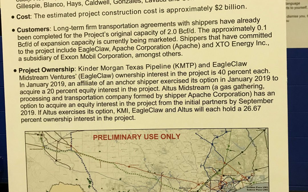 March 6 County Meeting to Discuss Kinder Morgan Permian Highway Pipeline